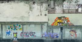 Noch 56669# Industrie muur met grafity
