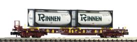 """Fleischmann 825054# Containerwagen met 2 containers """"Rinnen"""""""