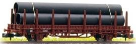 HobbyTrain H23005-11 : Rongenwagen Kbs 443 met  buizen (DB)