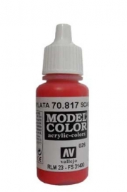 Vallejo 70.817 Scarlet Red, acryl verf (17 ml)