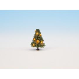 Noch 22111. Groene  verlichte kerstboom.