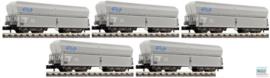 Fleischmann 852213 # Set van  5 Kalkwagens  (NS)
