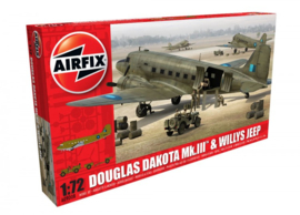 Airfix  A09008 : Douglas Dakota MkIII met Willys Jeep