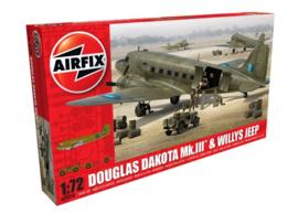 Airfix  A09008 : Douglas Dakota MkIII met Willys Jeep