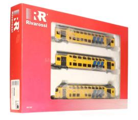 Rivarossi HR4086#Set van drie DDM dubbeldekkers van de NS