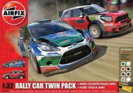 Airfix A50154 : Ford Fiesta rally auto + Mini Countryman WRC