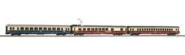 Piko 58386. 3 delige set IC wagons 1e klas, 2e klas en een restauratierijtiuig