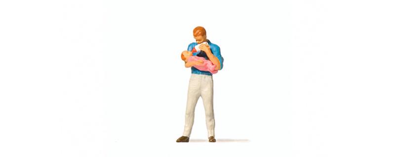 Preiser 28177 # Vader met baby