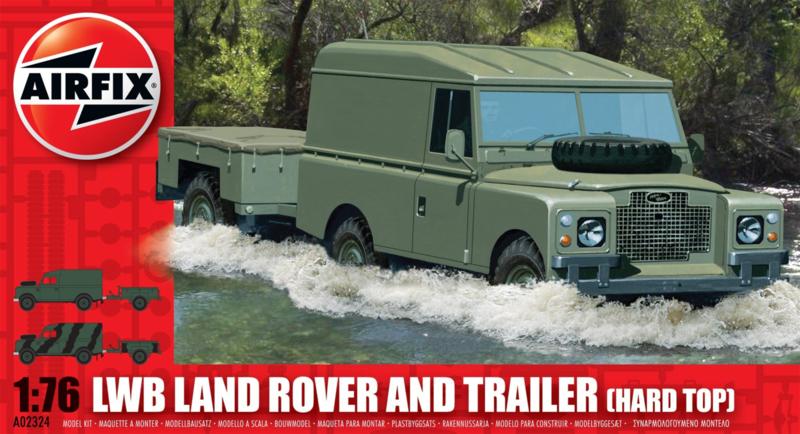Airfix  A02324 : LWB Land Rover met Trailer (Hard Top)
