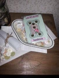Knopenkaart handmade