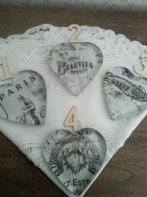 Glazen hart 1, 2 ,3 en 4