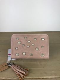 Portemonnee met parels ; roze