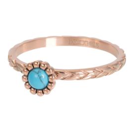 Ring Inspired Turquoise ; roségoudkleurig