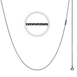 iXXXi 1 mm collier 80 cm ; zwart met logo