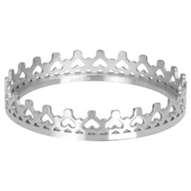 Ring Royal Crown ; zilverkleurig