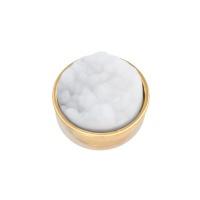 Top part drusy white, goud