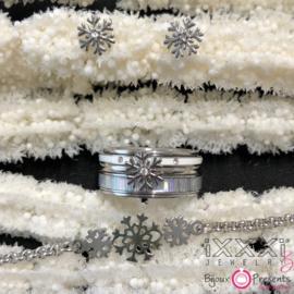iXXXi Cadeauset 11 ; Snowflake & Armband ; zilver