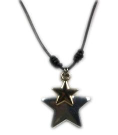 Lange ketting met sterren ;  zwart
