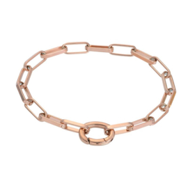 Armband Square Chain ; roségoudkleurig