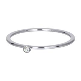 Ring blond flare 1 stone ; zilverkleurig