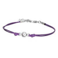 iXXXi Armband wax cord top part, purple