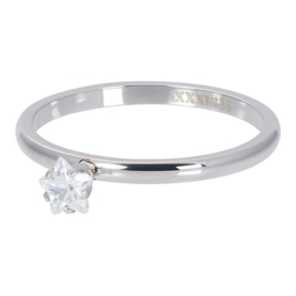 iXXXi Ring Star Crystal Stone, zilver