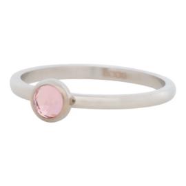 Ring Zirkonia pink, zilver
