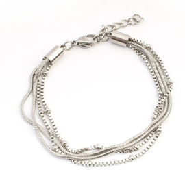 iXXXi Armband Knot ; Silver color