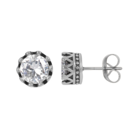 iXXXi Ear studs Crown ; zilverkleurig