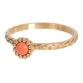 Ring Inspired Coral ; goudkleurig