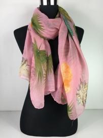Sjaal ; Palmtree Pink