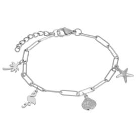 iXXXi Armband met Charms ; Zilverkleur