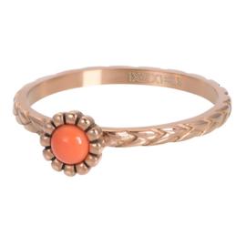 Ring Inspired Coral ; roségoudkleurig