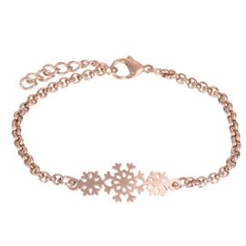 iXXXi armband Snowflake ; roségoudkleurig