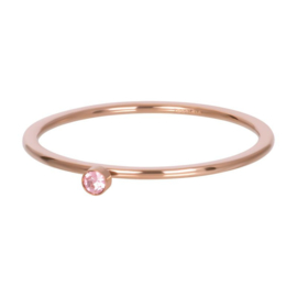 iXXXi ring, light saphire 1 stone roségoud