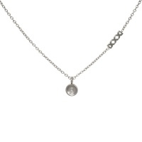 iXXXi Top part chain collier 40cm, zilver