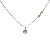 iXXXi Top part chain collier 40cm, zilverkleur