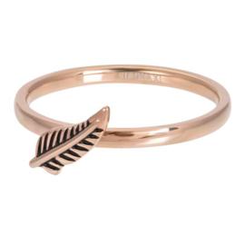 iXXXi ring Symbol Feather  ; rosegoudkleurig