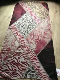 Sjaal ; Dierenprint ; Rood