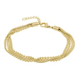 iXXXi Armband Snake Ball Slim, goudkleur