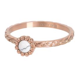 Ring Inspired White ; roségoudkleurig