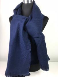 Winter sjaal ; donker blauw