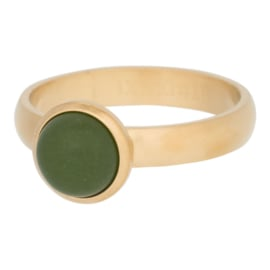 Ring Matt Olivina stone 10mm, goud