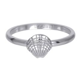 iXXXi ring, symbol sea shell zilverkleur