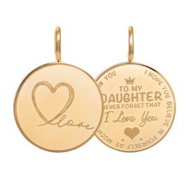 Hanger Daughter Love Small ; goudkleurig