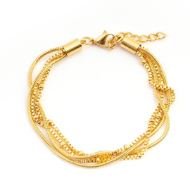 iXXXi Armband Snake Knot ; Gold Color
