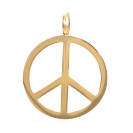 Hanger Peace ; goudkleurig