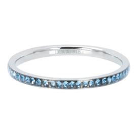 Ring zirkonia Light Saphire ; Silvercolor