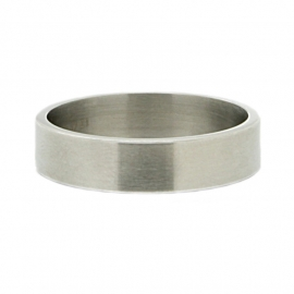 Ring Smooth ; brushed zilverkleurig