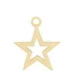 Charm open ster, gold